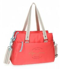 Pepe Jeans - Bolso tote Pepe Jeans Yoga Rojo -34x24x14cm- Poliéster Mujer chica