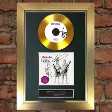 GOLD DISC STATUS QUO Aquostic Stripped Bare Signed Autograph Mounted Print A4 79