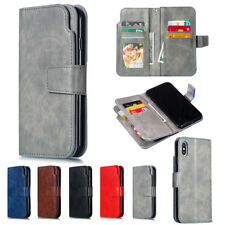 For iPhone 11 Pro Max Xs Xr X 8 7 6 Plus Magnetic Card Leather Wallet Case Cover