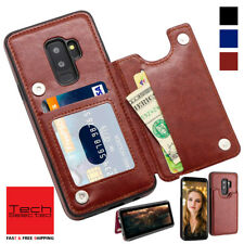 Galaxy S9 /+ Wallet Case Premium Leather Credit Card Holder Magnetic Shockproof