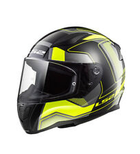 LS2 Helmets - Casco integral Rapid FF353 Carrera Matt Black H-V Yellow  Negro