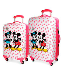 Mickey - Juego 2 trolley Mickey & Minnie rosa-35L y 62L-  ABS/Policarbonato
