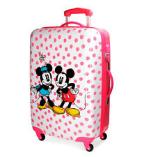 Mickey - Trolley Mickey & Minnie rosa-44x68x26 cm-  ABS/Policarbonato Niña