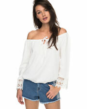 NEW ROXY™  Womens Retro Revival Off The Shoulder Long Sleeved Top Womens