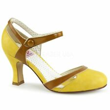 Pin Up Couture Pumps FLAPPER-27 Gelb Pin Up Couture Pumps FLAPPER-27 Gelb