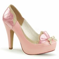 Pin Up Couture Plateau Pumps BETTIE-20 Pink Pin Up Couture Plateau Pumps ...