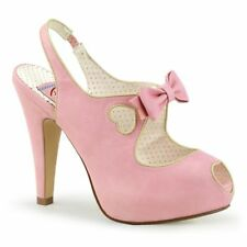 Pin Up Couture Plateau Pumos BETTIE-03 Pink