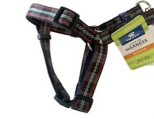 Dog Step In Harness Medium Top paw Plaid  Walking Red Blue White NWT Puppy Pet