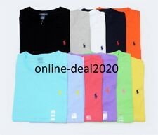 Men's Ralph Lauren Cotton crew neck Short Sleeve Polo T-shirt- Size:S to 2XL***