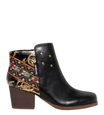 Desigual - Botines Country Exotic negro -Altura tacón: 7cm- Mujer/chica 5 a 8cm