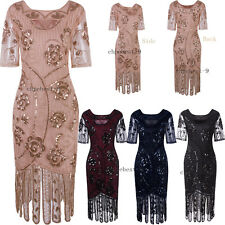 Womens Dresses Vintage 1920s Flapper Dress Evening Gown Cocktail Party Plus Size