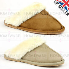 GIRLS KIDS SLIPPERS FAUX FUR LUXURY MEMORY FOAM INSOLE SLIP ON SIZES 10- 2UK NEW