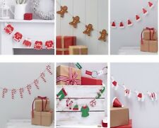 Wooden Christmas Bunting Xmas Garland Banner Festive Hanging decorations