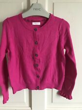 BNWOT Next Cardigan. Girls. Hot Pink. Age 3 - 8 Years. Soft. Ruffle Cuff