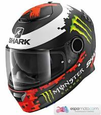 Casco SHARK SPARTAN REPLICA LORENZO MONSTER MAT BLACK / RED / GREEN