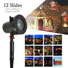 Halloween Xmas Party Moving Laser Projector Light Landscape Lamp Indoor Outdoor