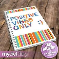 WEIGHT LOSS DIARY - Positive Vibes (G012W) 12wk notebook diary journal tracker