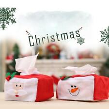 New Year Christmas Tissue Box Cover Santa Claus Snowman Covers Table Ornaments