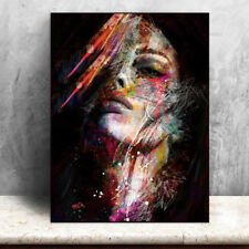 Canvas Painting Walls Art Pictures Colorful Woman Prints Wall Poster Decorations
