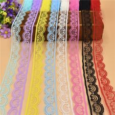 Lace Ribbon Tape Trim Fabric DIY Embroidered White Lace Trimmings Decorations