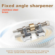 Stainless Steel/Brass Side Clamping Fixed Angle Honing Guide for Edge Sharpening