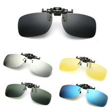 Polarized Clip On Flip Up Sunglasses Shades Eyewear for Myopia Glasses Driving
