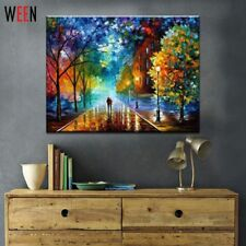 Landscape Painting Oil Paint Canvas Art Lovers Walks In The Street Paintings
