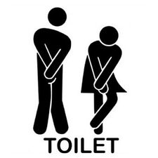 Wall Stickers Removable Man Woman Washroom Door Toilet Sticker Wallpaper Sale