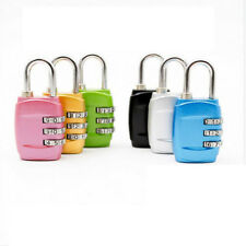 USA Security 3 Combination Travel Suitcase Luggage Bag Code Gym Lock Padlock