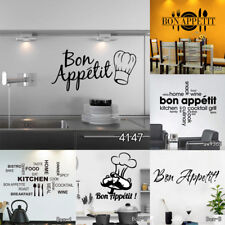 Art Posters Food Wall Stickers DIY Home Decal Wall Paper Kitchen Room Decoration