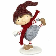Christmas Dancing Boy or Girl with Red Dress/Hat Festive Decoration Ornament