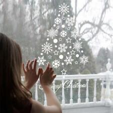 Window Snow Flakes Sticker Winter Snowflake New Year Christmas Wall Stickers