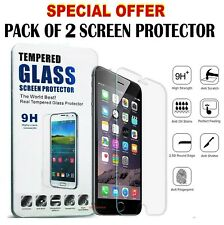 4 X  100% Genuine Tempered Glass Screen Protector For IPhone 8/7/7+/6/X/XS