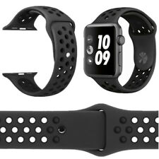 Replacement Sport Silicone Strap Band For Apple Watch Nike+ iWatch 4/3/2/1 BLACK