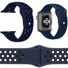 Replacement Sport Silicone Strap Band For Apple Watch Nike+ iWatch 4/3/2/1 NAVY