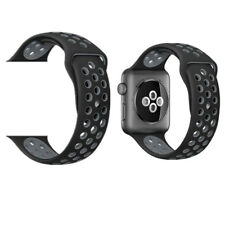 Replacement Sport Silicone Strap Band For Apple Watch Nike+ iWatch 4/3/2/1 Gray