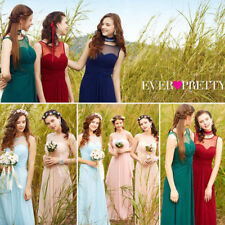 Ever-Pretty UK Long Sleeveless Bridesmaid Dresses Blue Wedding Gowns UK Sell