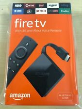 LOT of NEW Amazon - Fire TV with 4K Ultra HD and Alexa Voice Remote - Black