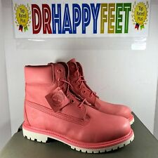 NEW Timberland Womens Coral Pink Boots Premium 6 Inch WATERPROOF Sizes TB0A1AQK