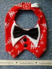 Christmas Dog/Cat Tuxedo/Bowtie ~ S/M/L ~ Wedding/Formal/Christmas/party