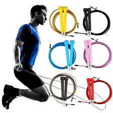 Cable Steel Jump Skipping Jumping Speed Fitness Rope Cross Fit MMA Boxing MA
