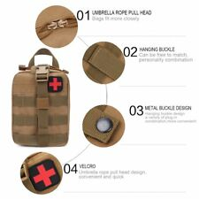 Outdoor Travel First Aid Kit Tactical Waist Pack Camping Bag Emergency Case JK