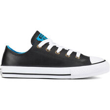 Converse Chuck Taylor All Star Ox Negro/Blue Hero Cuero Jóvenes