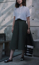 "JW Anderson x Uniqlo Quilted Midi Wide Full Flared Skirt Khaki Green W 24"" 26"""