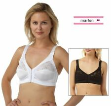 Ladies Womens Front Fastening Bra Non Wired Soft Cup Size 34-48 B C D DD E 597