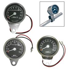 MOTORCYCLE SPEEDO AND REV COUNTER / TACHO PACK MULTI MPH / KMH CHROME FINISH
