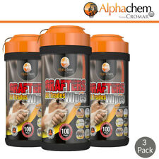 Multi Purpose Hand Wipes | Grafter Wipes | AlphaChem | 100 Wipes | Multipack