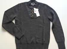 JW Anderson Uniqlo Wool Blend Military Button Jumper Sweater Charcoal XS S M L
