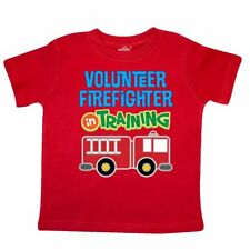 Inktastic Volunteer Firefighter In Training Toddler T-Shirt Fireman Future Boys