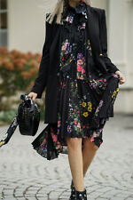Erdem H&M Floral Pleated A Line Frill Dress With Bow UK 8 10 12 14 BNWT